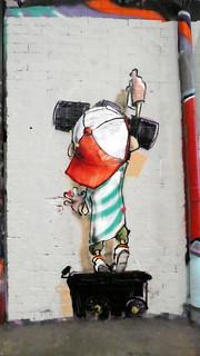Parlee graffiti, Leake Street
