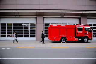 Fire truck and... / Akihabara,tokyo,japan