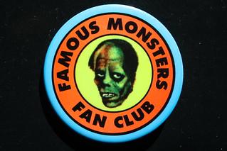 Famous Monsters Fan Club Button ( 1972 )