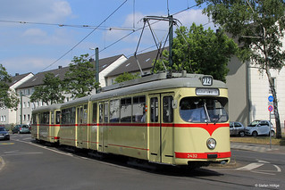Düsseldorf DÜWAG GT6 2432 + Bw 1680