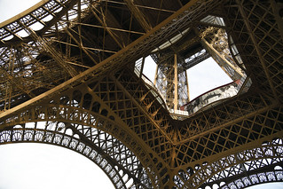 Beneath the Eiffel Tower (Paris, France)  -  (Selected by GETTY IMAGES)