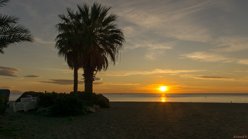 Sunrise, Lever du soleil, Espagne, Costa Del Sol, Torremolinos - 3342