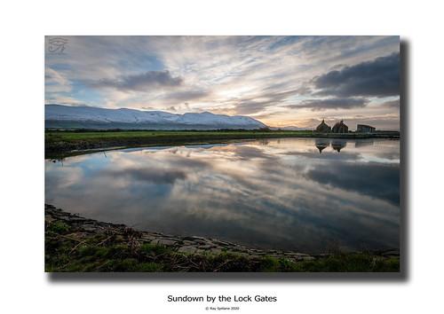 Sundown by the Lock Gates