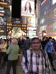 It was my lucky day- another kind tourist took this picture of me on the Dotonbori food street