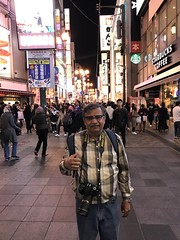 Another selfie of me on the Dotonbori food street