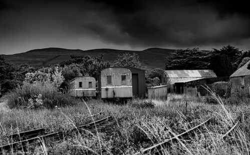 Abandoned Tralee & Dingle carriages, Blennerville, Co Kerry, Ireland.