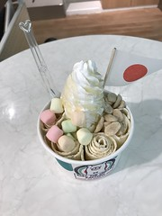 Curl ice cream- the finished product with toppings