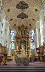 Église abbatiale Saint Cyriaque d'Altorf - Le chœur et son imposant maître-autel