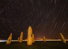 Menhirs in the night