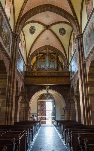 Église abbatiale Saint Cyriaque d'Altorf - Orgue Silbermann et fresques