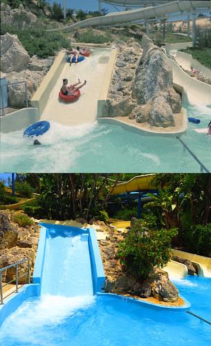 Adventure World Water Slides - 1985 vs December 2016