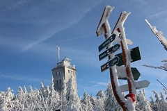 2019 Winterwanderung nach Oberwiesenthal, Sachsen, Erzgebirge