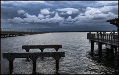 Clontarf Fishing Platform with storm in background-2=