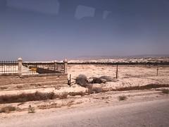 Minefields alongside the road to Qasr el Yahud