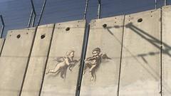 Banksy artwork in Bethlehem