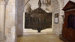 Bronze relief in the Church of St Catherine, Bethlehem