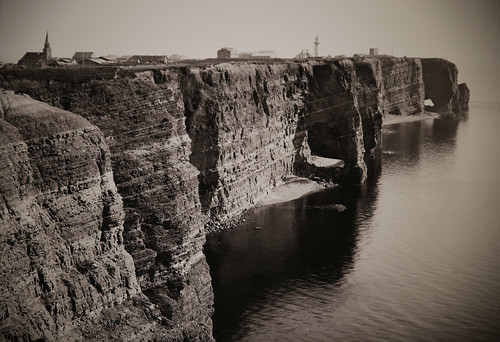 Historical photograph Helgoland - Oberland 1895