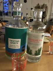 Douglas fir gin and vodka