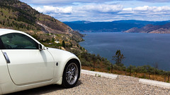 Week 20 - Negative Space - Nissan 350Z Okanagan Lake Wine Country