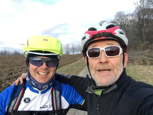 Alongside my buddy Claudio on his first ever Gravel ride ...