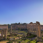 Classical view of Forum Romanum - https://www.flickr.com/people/160557051@N07/