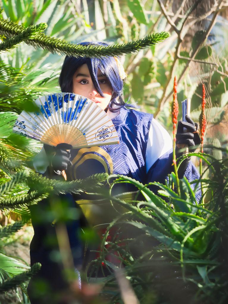 related image - Shooting Mikazuki Munechika -  Ranbu - Photographer event - Parc Olbius Riquier - Hyères -2019-12-30- P1977880