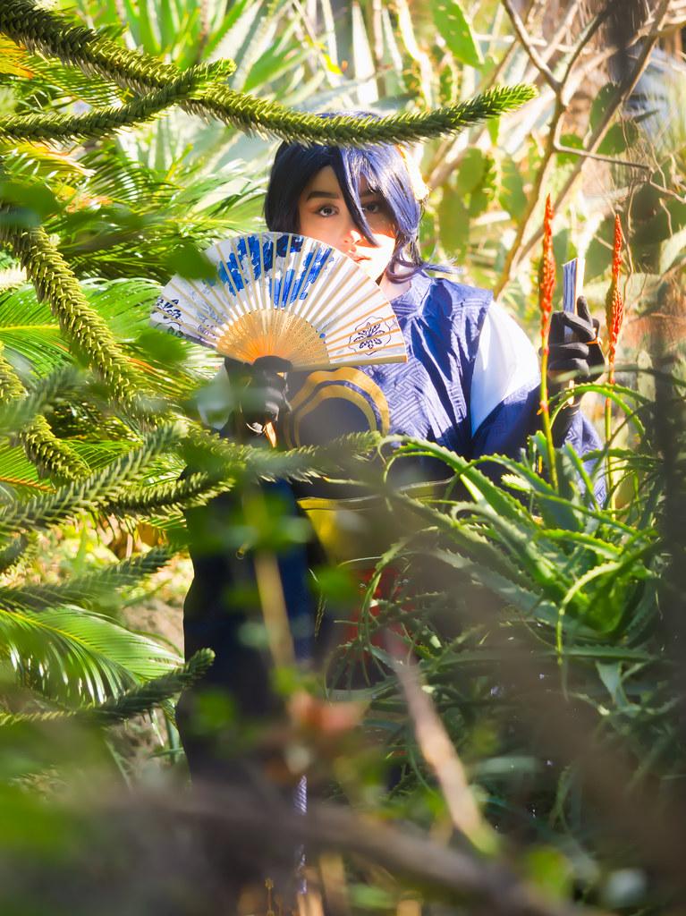 related image - Shooting Mikazuki Munechika -  Ranbu - Photographer event - Parc Olbius Riquier - Hyères -2019-12-30- P1977879