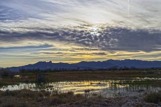 Sunset. Ash Meadows National Wildlife Refuge