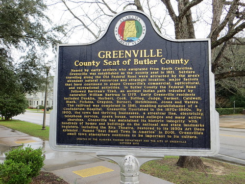 Greenville County Seat of Butler County Marker Greenville AL