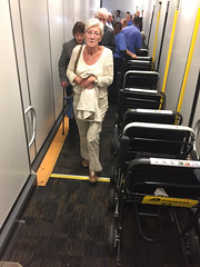 Welcome to Miami. Wheelchairs ready for the retirees!