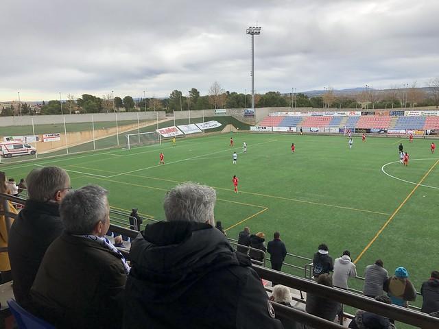 Acompañando al Zaragoza CFF en su campo de Villanueva