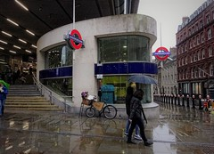 Cannon Street Station in the rain
