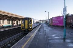 Cardiff Canton-Rhymney proving run: Class 153 DMU 153333 at Caerphilly, 19th January 2020