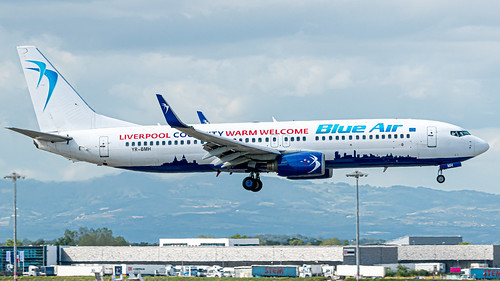 Boeing 737-800 Blue Air (City of Liverpool Livery)