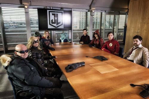 Justice league meeting
