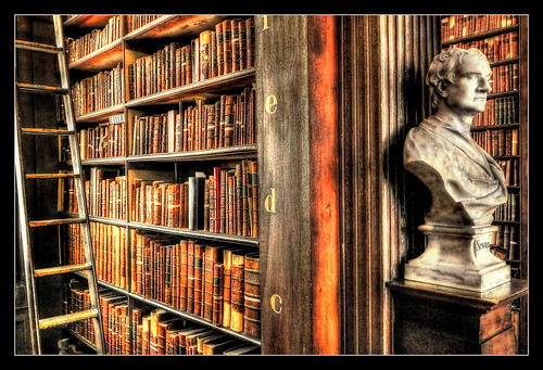 Dublin IR - The Long Room Of The Old Library At Trinity College 06