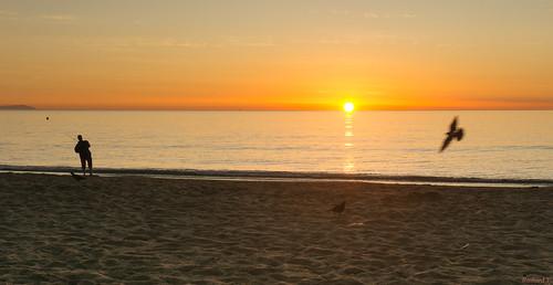 Sunrise, Lever du soleil, Espagne, Costa Del Sol, Torremolinos - 2321