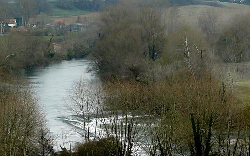 Cauneille, Landes, le Gave de Pau pour le thème de janvier