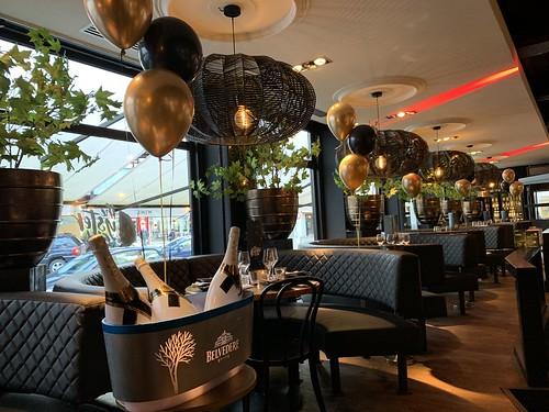 Tafeldecoratie 3ballonnen Ruth Jacott The Oysterclub Rotterdam