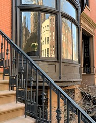 A picturesque copper-clad oriel, Greenwich Village, New York