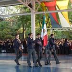 Honores a la Bandera  4º A y 4ºB de Preparatoria y entrega de certificaciones de Oxford