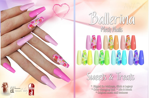 Sweets and Treats Ballerina Nails