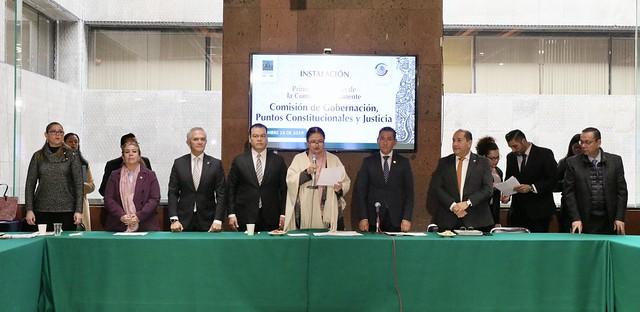 18/12/2019 Instalación Primera Comisión de la Comisión Permanente