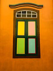 Windows, Colourful House, Little India, Singapore