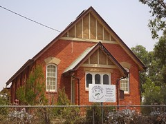 Patchewollock. The start of the Victorian Silo Art Trail. The former Methodist Church built around 1929. Now a combined Uniting and Anglican Church.