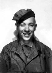 boot camp picture of Bernard J Magill Sr - 2 -resized & enhanced - monochrome