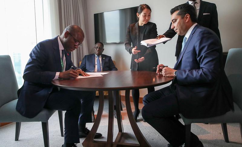 Signature en marge du Sommet UK Africa Invest