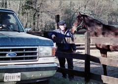 1991-04- Bernard J (Buck) Magill Sr who loved the horses