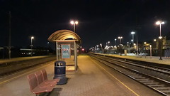At the station