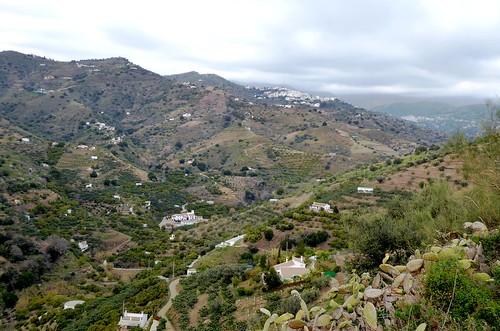 Sayalonga (Málaga-España). Paisaje visto desde el mirador del cementerio